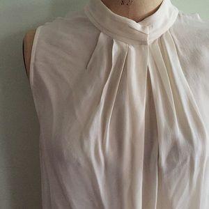 Artizia Pleated Cream Silk Blouse